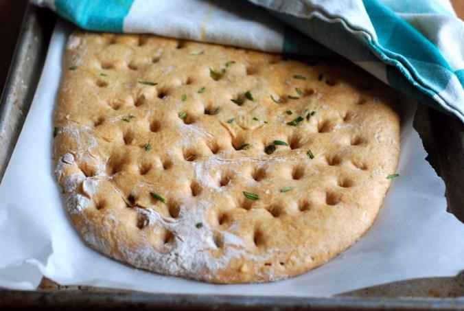 spelt focaccia dough