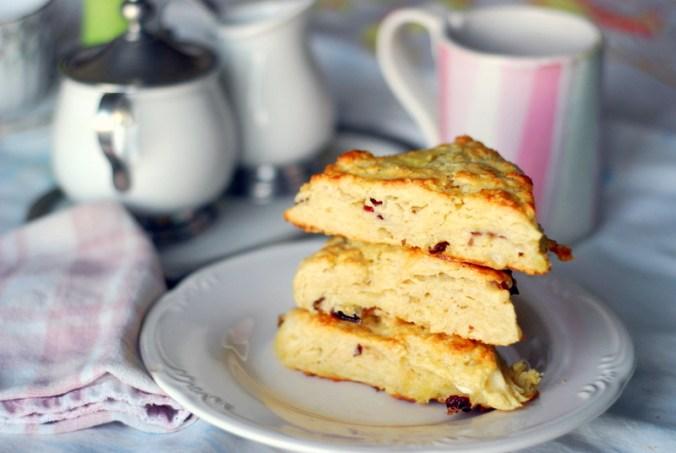 cranberry ricotta scones stack 1171