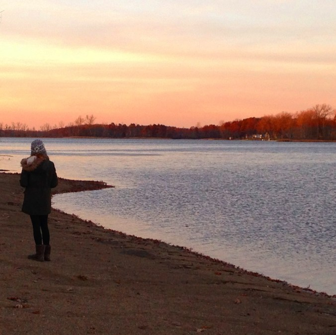 reflection along the lake