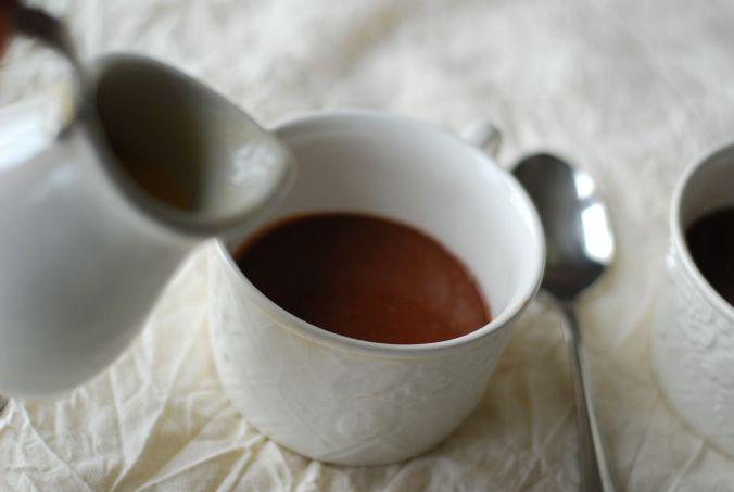 molten chocolate mug cake with pitcher