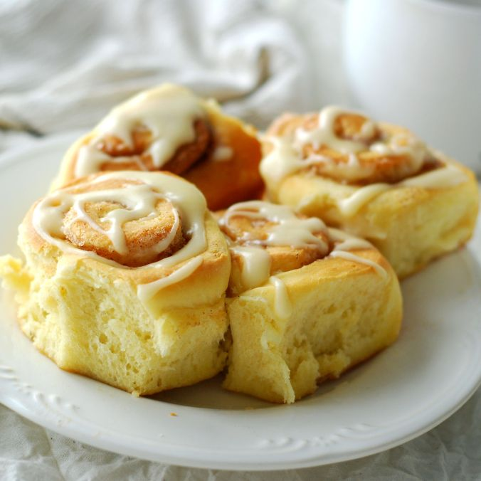 maple frosted cinnamon rolls