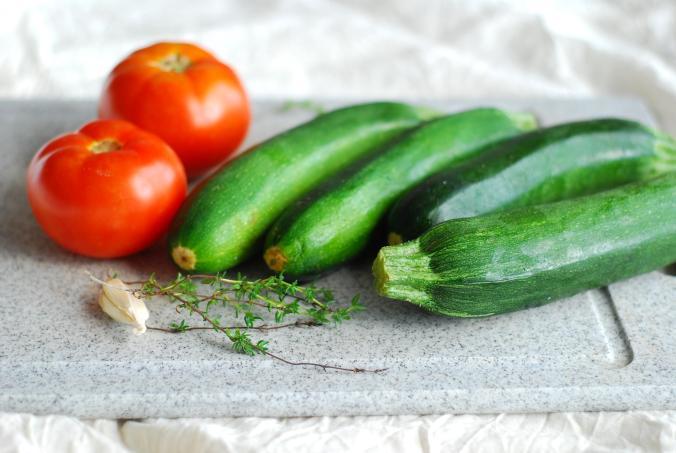 tomato and zucchini
