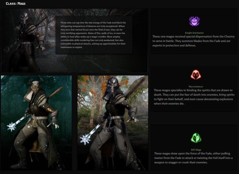Dragon Age Inquisition mage class