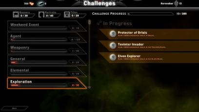 Dragon Age Inquisition Multiplayer Challenges menu