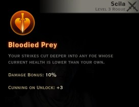 Dragon Age Inquisition - Bloodied Prey Double Daggers rogue skill