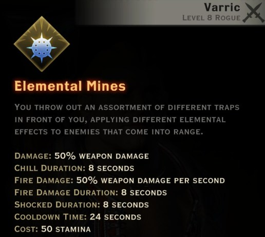 Dragon Age Inquisition - Elemental Mines Artificer rogue skill