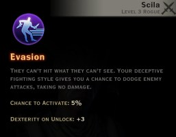 Dragon Age Inquisition - evasion Subterfuge rogue skill