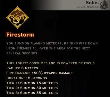 Dragon Age Inquisition - Firestorm Rift mage skill