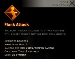 Dragon Age Inquisition - Flank Attack Double Daggers rogue skill