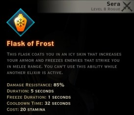 Dragon Age Inquisition - Flask of Frost Tempest rogue skill