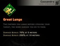Dragon Age Inquisition - Great Lunge Weapon and Shield warrior skill