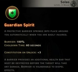 Dragon Age Inquisition - Guardian Spirit - Spirit mage skill