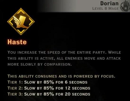 Dragon Age Inquisition - Haste Necromancer mage skill