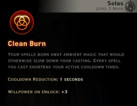 Dragon Age Inquisition - Clean Burn Inferno mage skill
