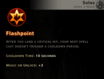 Dragon Age Inquisition - Flashpoint Inferno mage skill