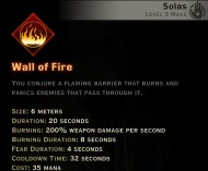 Dragon Age Inquisition - Wall of Fire Inferno mage skill