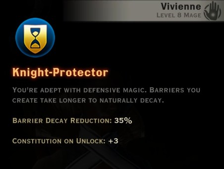 Dragon Age Inquisition - Knight-Protector Knight-Enchanter mage skill