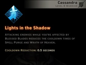 Dragon Age Inquisition -Lights in the Shadow Templar warrior skill