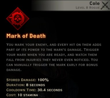 Dragon Age Inquisition - Mark of Death Assassin rogue skill