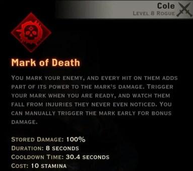 Dragon Age Inquisition - Mark of Death Assassin rogue skill