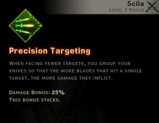 Dragon Age Inquisition - Precision Targeting Sabotage rogue skill