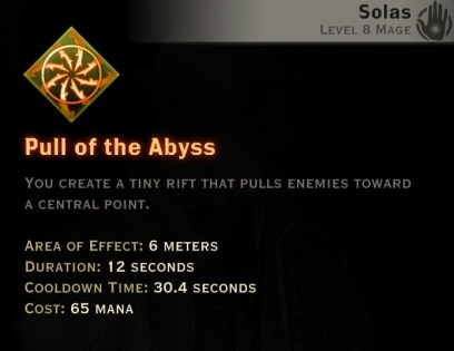 Dragon Age Inquisition - Pull of the Abyss Rift mage skill