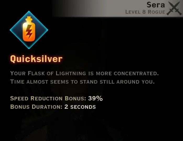 Dragon Age Inquisition - Quicksilver Tempest rogue skill