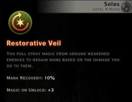 Dragon Age Inquisition - Restorative Veil Rift mage skill