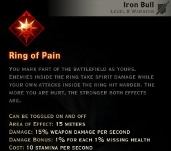 Dragon Age Inquisition - Ring of Pain Reaver warrior skill