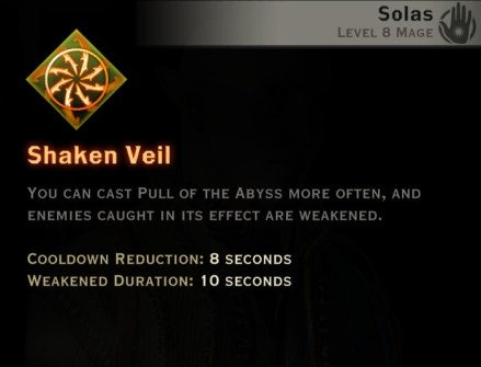 Dragon Age Inquisition - Shaken Veil Rift mage skill