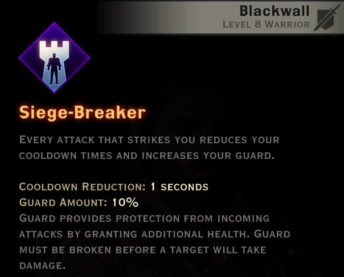 Dragon Age Inquisition - Siege Breaker Champion warrior skill