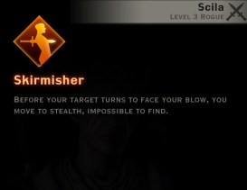 Dragon Age Inquisition - Skirmisher Double Daggers rogue skill