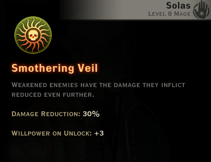 Dragon Age Inquisition - Smothering Veil Rift mage skill