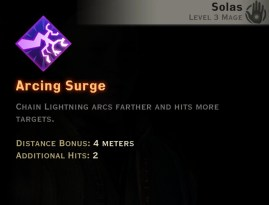 Dragon Age Inquisition - Arcing Surge Storm mage skill