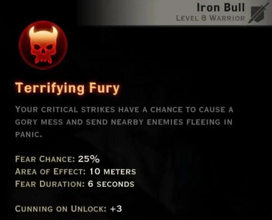 Dragon Age Inquisition - Terrifying Fury Reaver warrior skill