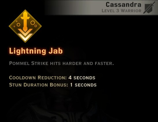 Dragon Age Inquisition - Lightning Jab Two-Handed Weapon warrior skill