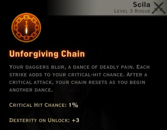 Dragon Age Inquisition - Unforgiving Chain Double Daggers rogue skill