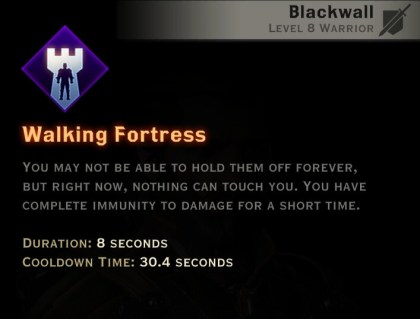 Dragon Age Inquisition - Walking Fortress Champion warrior skill