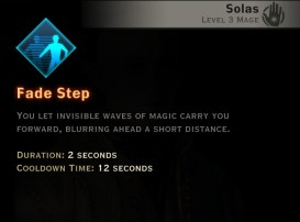 Dragon Age Inquisition - Fade Step Winter mage skill