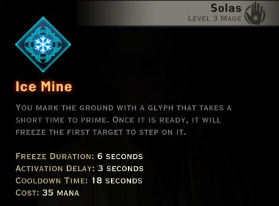 Dragon Age Inquisition -Frost Mine Winter mage skill