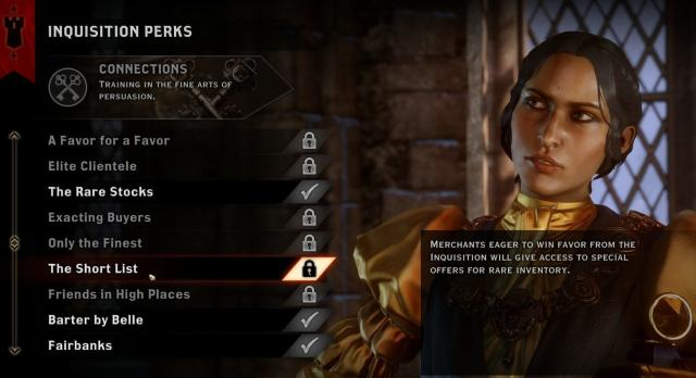Dragon Age Inquisition - The Short List Perk