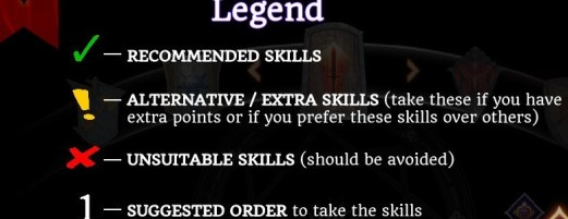 Dragon Age Inquisition - skill legend