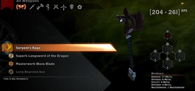 Serpent's Rage One-handed Axe