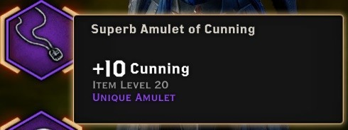 Superb Amulet of Cunning