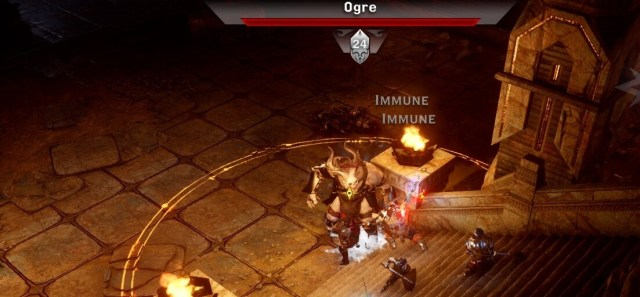 Fighting Ogres was a nice throwback to 'Origins'