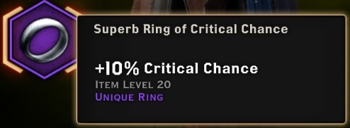 superb ring of critical chance