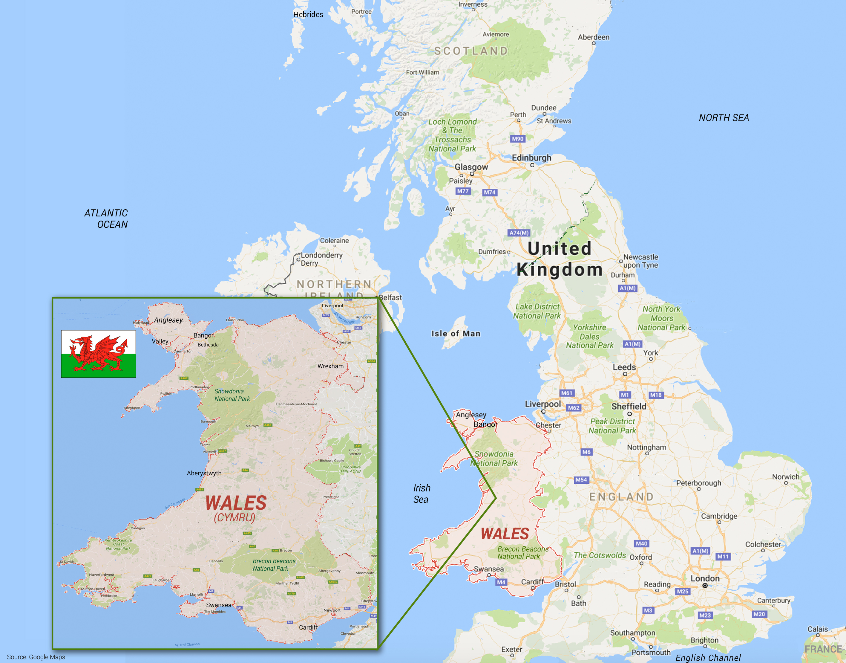 Small Group Tours Wales UK Dragon In Your Pocket - Where is wales
