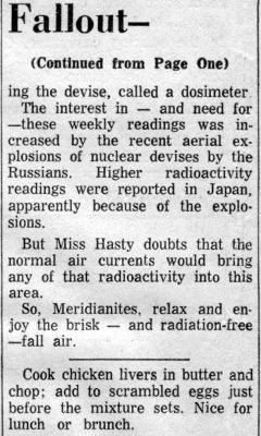 Meridian Star 9-21-1961 Radioactive Fallout Normal 3
