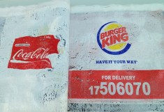 Fast food shopping bags by Giuse Maggi RE Exhibit 2013