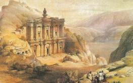 David Roberts' painting from postcard